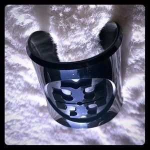 Stylish Tory Burch Black Resin Bracelet